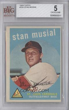 1959 Topps #150 - Stan Musial [BVG 5]