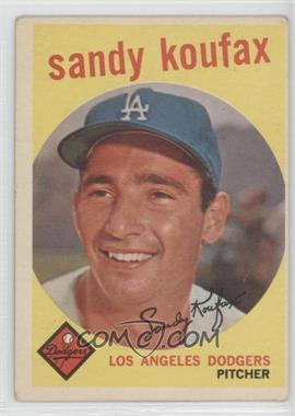 1959 Topps #163 - Sandy Koufax [GoodtoVG‑EX]