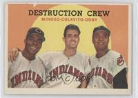 Minnie Minoso, Rocky Colavito, Larry Doby [Good to VG‑EX]