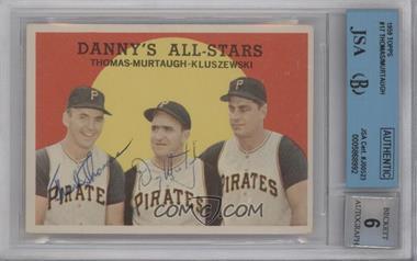 1959 Topps #17 - Danny's All-Stars (Frank Thomas, Danny Murtaugh, Ted Kluszewski) [BGS/JSACertifiedAuto]