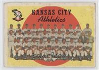 Kansas City Athletics Team (3rd Series Checklist 177-242) [GoodtoVG…