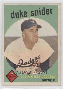 1959 Topps #20 - Duke Snider