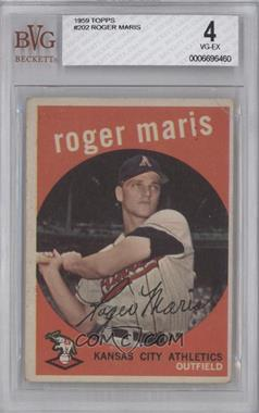 1959 Topps #202.2 - Roger Maris (white back) [BVG 4]