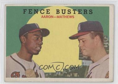 1959 Topps #212 - Hank Aaron, Eddie Mathews [Good to VG‑EX]