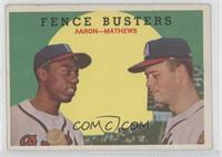 Fence Busters (Hank Aaron, Eddie Mathews) (Grey Back) [Good to VG&#82…