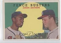 Fence Busters (Hank Aaron, Eddie Mathews) (White Back)