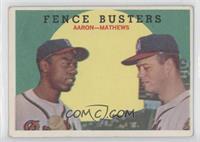 Fence Busters (Hank Aaron, Eddie Mathews) (Grey Back) [PoortoFair]