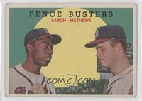Fence Busters (Hank Aaron, Eddie Mathews) (White Back) [GoodtoVG&#8…