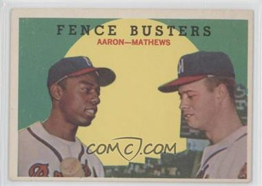 1959 Topps #212WB - Fence Busters (Hank Aaron, Eddie Mathews) (White Back)