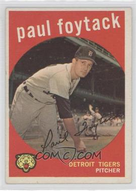 1959 Topps #233.1 - Paul Foytack (grey back)