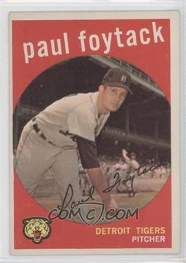 1959 Topps #233.2 - Paul Foytack (white back)
