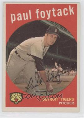1959 Topps #233.2 - Paul Foytack (white back)