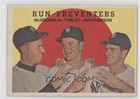 Run Preventers (Gil McDougald, Bob Turley, Bobby Richardson)