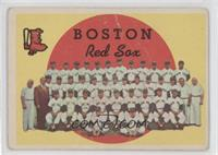 Boston Red Sox Team (3rd Series Checklist) (white back) [Poor to Fair]