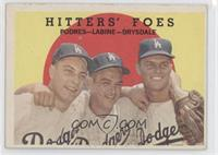 Hitters' Foes (Johnny Podres, Clem Labine, Don Drysdale) (grey back)