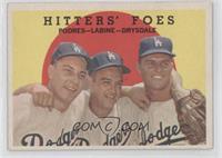 Hitters' Foes (Johnny Podres, Clem Labine, Don Drysdale) (grey back) [Good&nbsp…