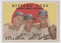 Hitters' Foes (Johnny Podres, Clem Labine, Don Drysdale) (white back) [Poor&nbs…