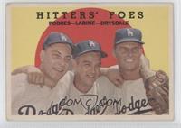 Johnny Podres, Clem Labine, Don Drysdale (white back) [GoodtoVG&#82…