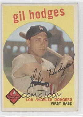 1959 Topps #270.1 - Gil Hodges (gray back)