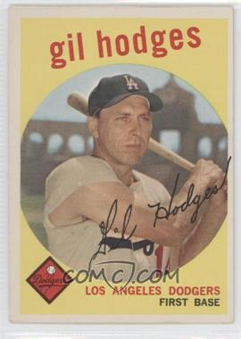 1959 Topps #270.1 - Gil Hodges (white back)