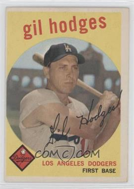 1959 Topps #270.2 - Gil Hodges (white back)