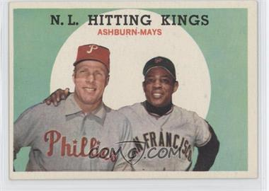 1959 Topps #317 - N.L. Hitting Stars (Richie Ashburn, Willie Mays)