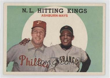 1959 Topps #317 - N.L. Hitting Stars (Richie Ashburn, Willie Mays) [GoodtoVG‑EX]