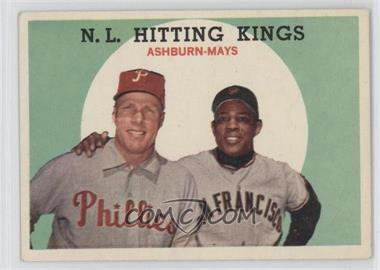 1959 Topps #317 - N.L. Hitting Stars (Richie Ashburn, Willie Mays)