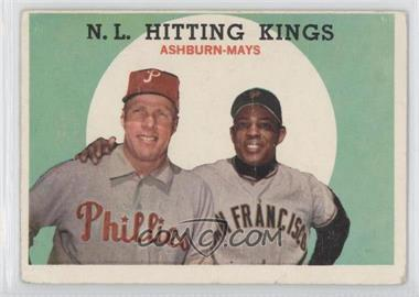 1959 Topps #317 - N.L. Hitting Stars (Richie Ashburn, Willie Mays) [Good to VG‑EX]