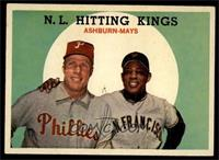 N.L. Hitting Stars (Richie Ashburn, Willie Mays) [EX MT]