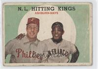 N.L. Hitting Stars (Richie Ashburn, Willie Mays) [Poor to Fair]