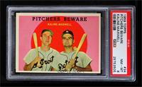 Pitchers Beware (Al Kaline, Charlie Maxwell) [PSA8]