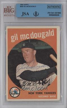 1959 Topps #345 - Gil McDougald [BVG/JSA Certified Auto]