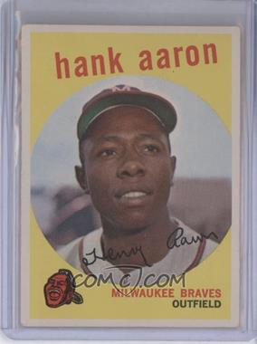 1959 Topps #380 - Hank Aaron [GoodtoVG‑EX]