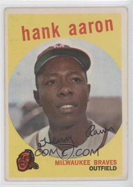 1959 Topps #380 - Hank Aaron [Good to VG‑EX]