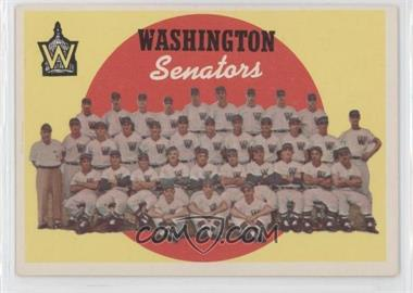 1959 Topps #397 - Washington Senators Team (6th Series Checklist)
