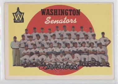 1959 Topps #397 - Washington Senators Team (6th Series Checklist)