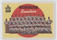 Washington Senators Team (6th Series Checklist) [Poor to Fair]