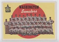 Washington Senators Team (6th Series Checklist)