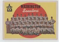 Washington Senators Team (6th Series Checklist) [Good to VG‑EX]