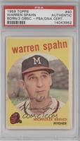 Warren Spahn [PSA/DNA Certified Auto]