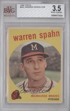 1959 Topps #40.3 - Warren Spahn (Correct: Born 1921) [BVG3.5]