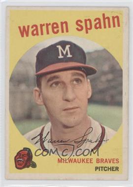 1959 Topps #40.3 - Warren Spahn (Correct: Born 1921)