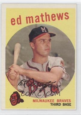1959 Topps #450 - Eddie Mathews