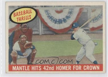 1959 Topps #461 - Mantle Hits 42nd Homer for Crown (Mickey Mantle)