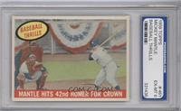 Mantle Hits 42nd Homer for Crown (Mickey Mantle) [ENCASED]