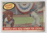 Mantle Hits 42nd Homer for Crown (Mickey Mantle) [PoortoFair]