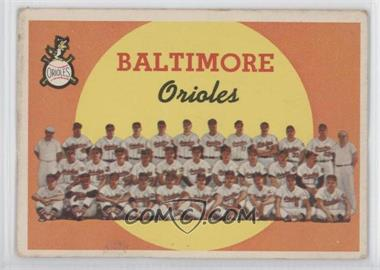 1959 Topps #48 - Baltimore Orioles Team (1st Series Checklist 1-88)