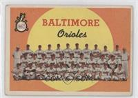 Baltimore Orioles Team (1st Series Checklist 1-88) [Good to VG‑…