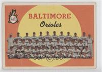Baltimore Orioles Team (First Series Checklist) [Good to VG‑EX]